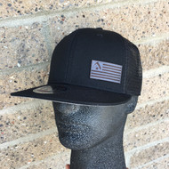 Knife Flag Black Hat