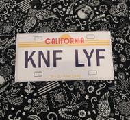 Licence Plate DENIED Sticker