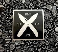 X Knife Life Sticker
