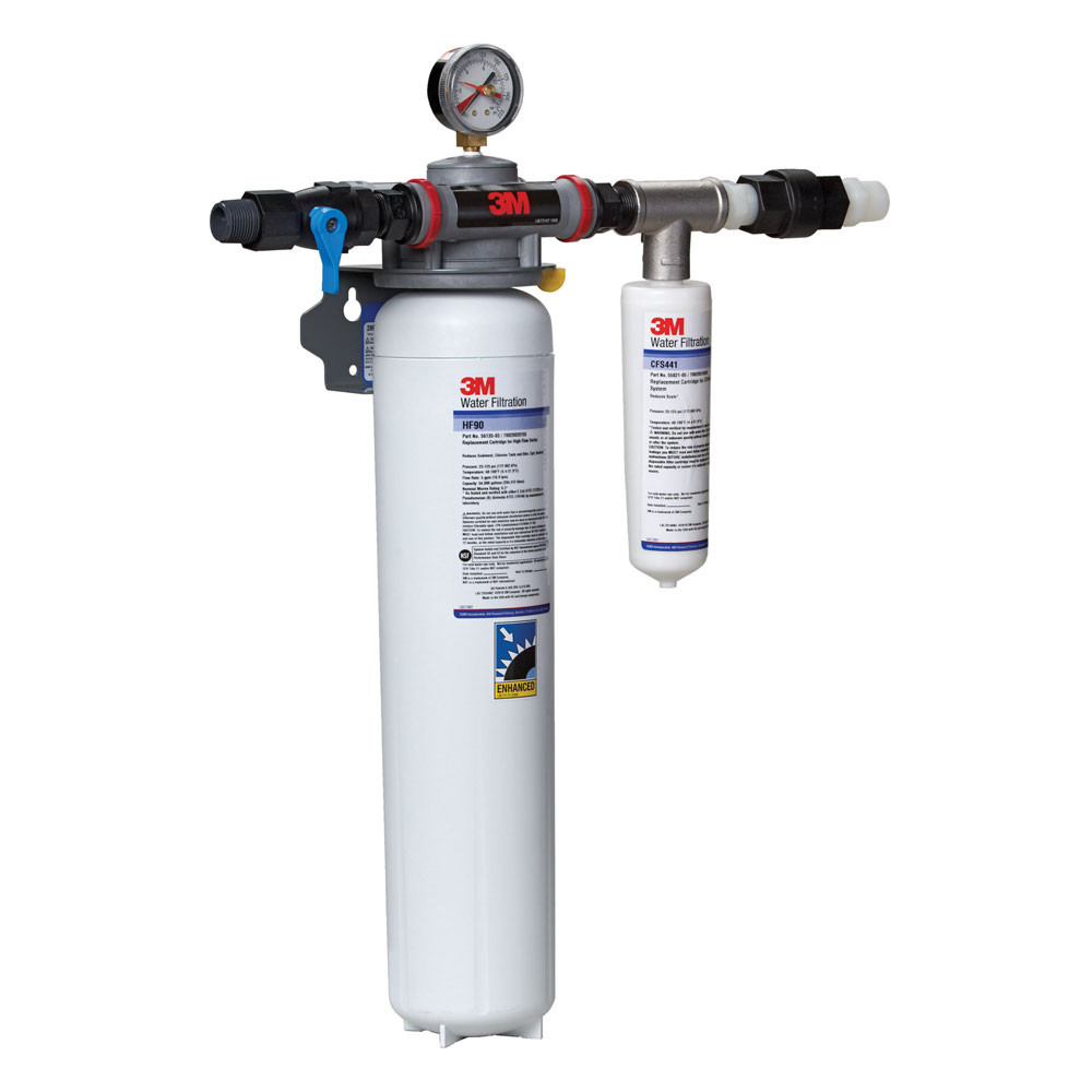 3m dp190 dual port water filtration system for Fountain filter systems