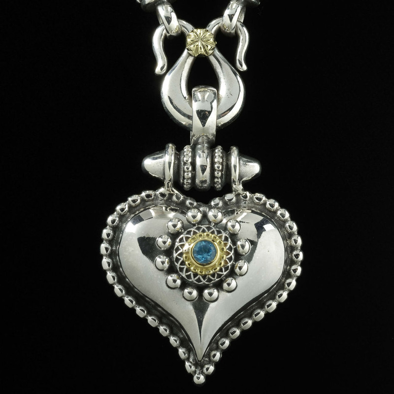 Heart Necklace Pendant by Bowman Originals Jewelry. USA