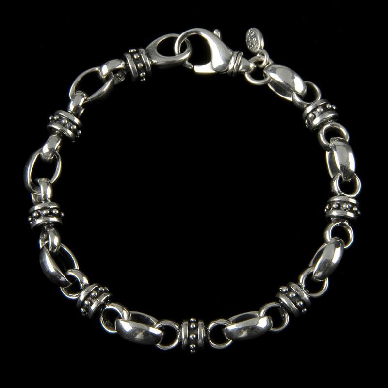 Lady Godiva Silver Bracelet handmade by Bowman Originals, Sarasota, 941-302-9594.