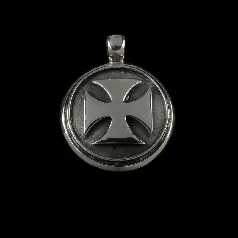 St John's Maltese Cross in Sterling Silver handmade by Bowman Originals, USA