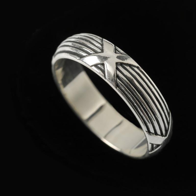 Handmade engraved Sterling Silver Harvest Wedding Ring Band | Bowman Originals, 941-302-9594