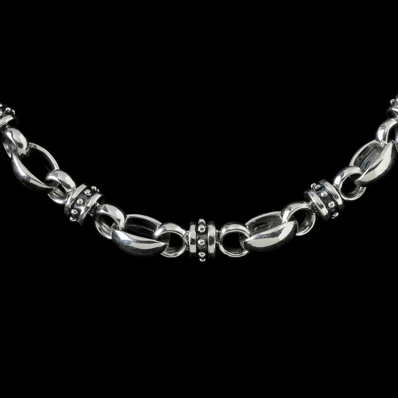 Lady Godiva Chain, silver by Bowman Originals Jewelry, USA