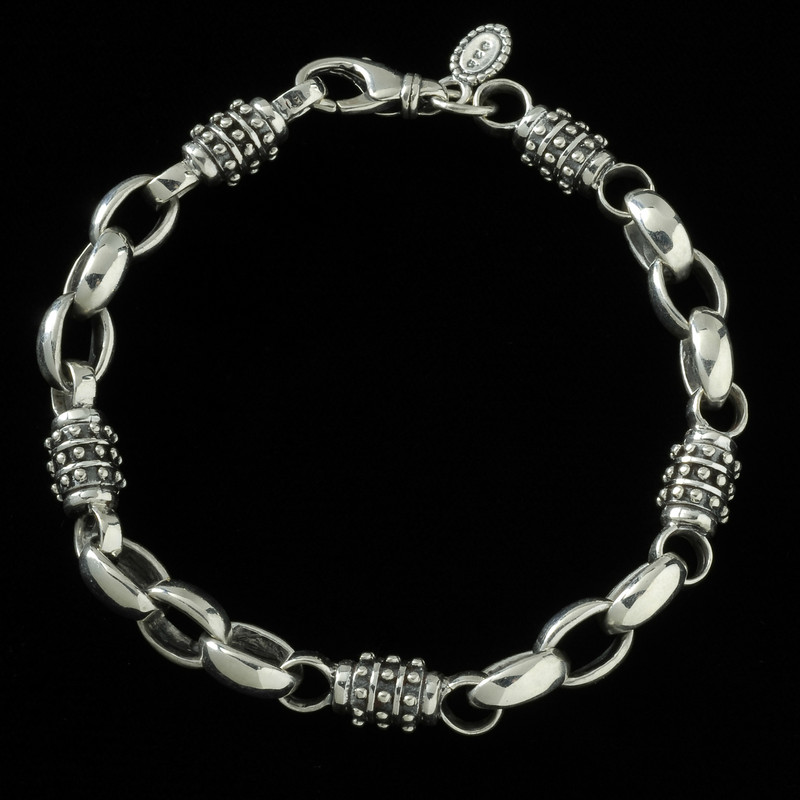 Achilles Bracelet, silver handmade by Bowman Originals, USA