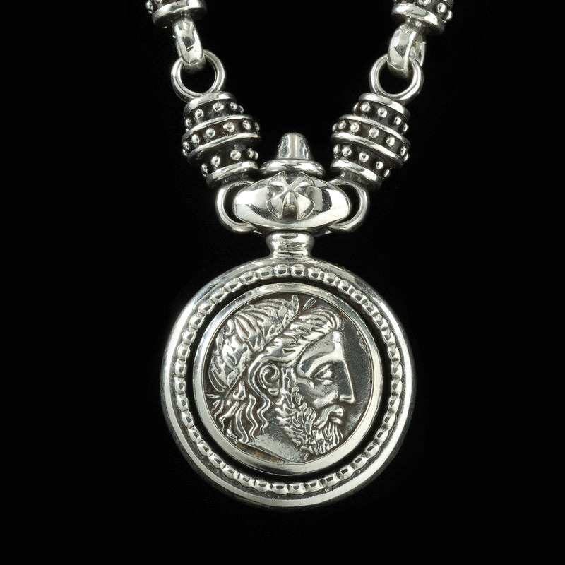 Silver King Philip of Macedonia Necklace