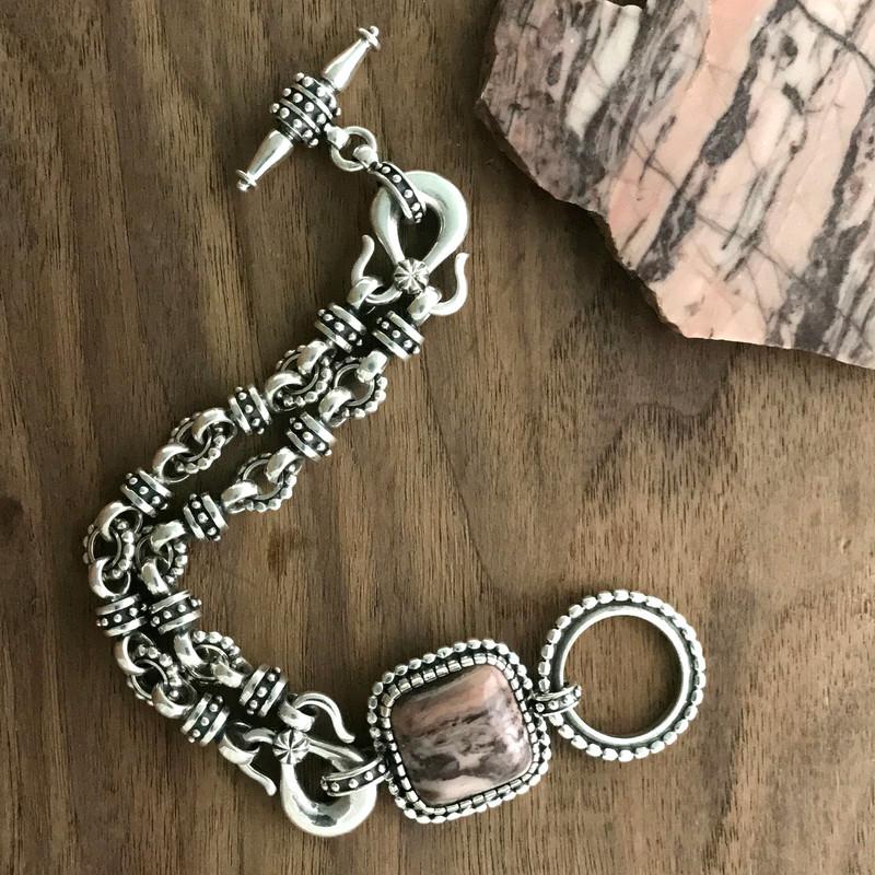 Dolomite and handmade Silver Bracelet  by Bowman Originals