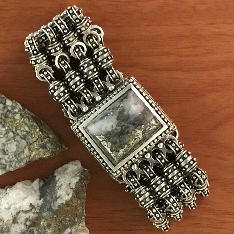 Chainmail Silver Bracelet, Silver Ore by Bowman Originals.