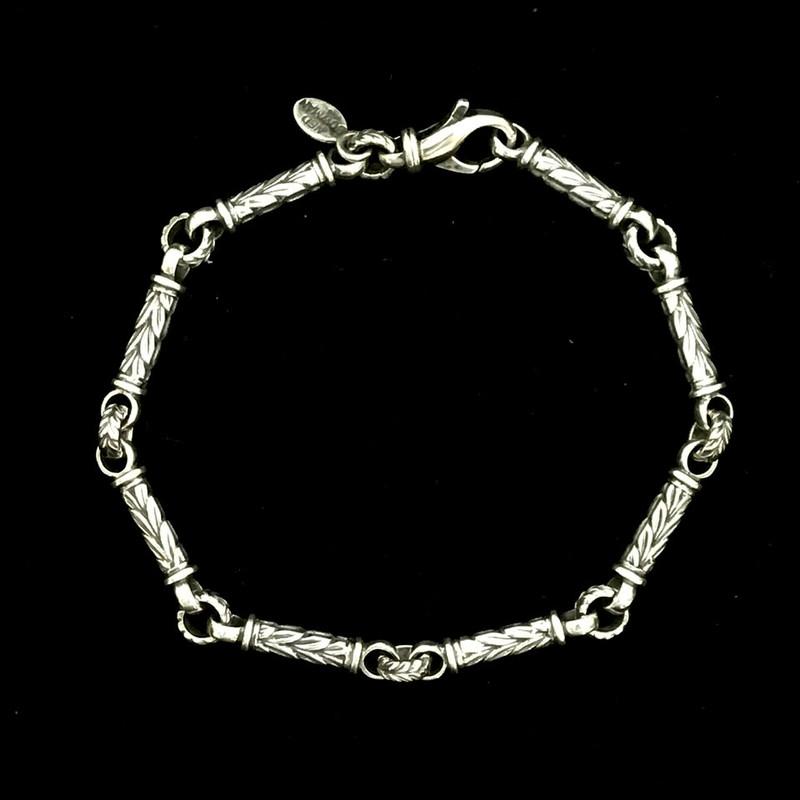 Leaf Bar Bracelet, Silver