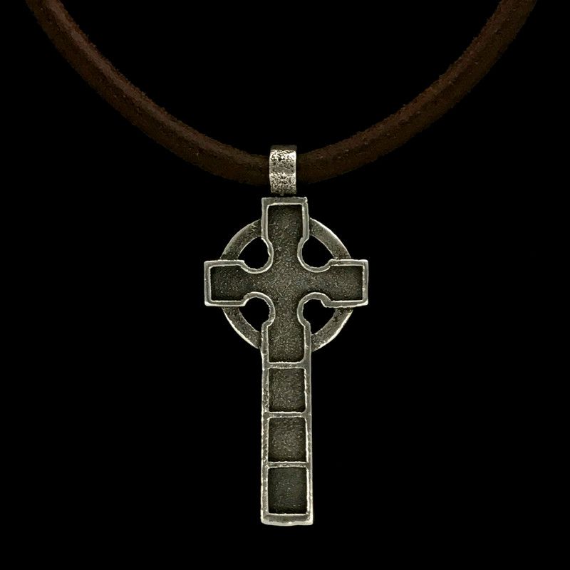 Celtic Cross Necklace handmade in Sterling Silver by Bowman Originals, USA