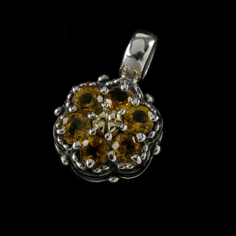 Citrine Gemstone in Sterling Silver and 18 k Gold. Personalize yours. by Bowman Originals, USA