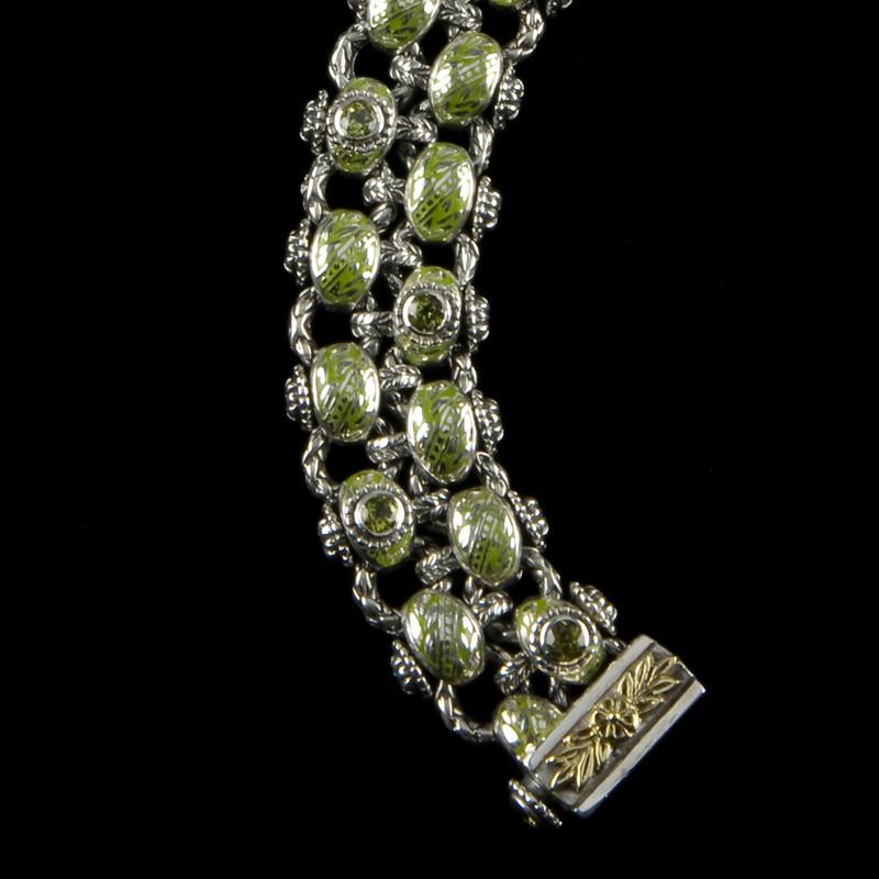 Laurel Leaf Bracelet custom handmade  one at a time by Bowman Originals.