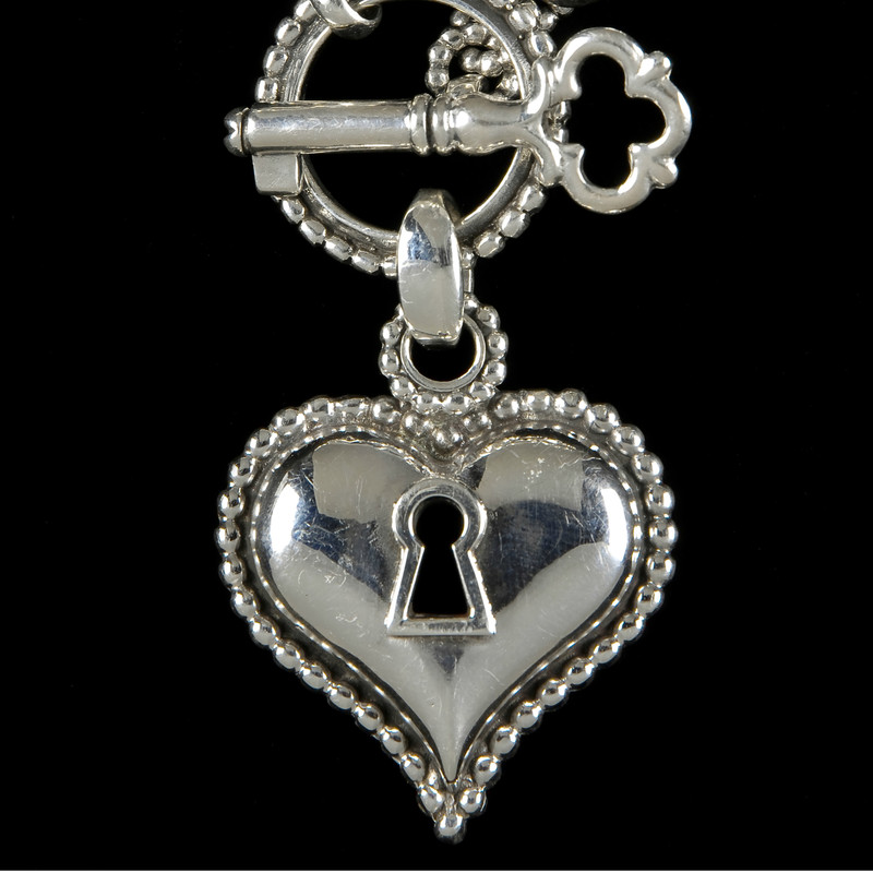 Key to my Heart Necklace, Silver