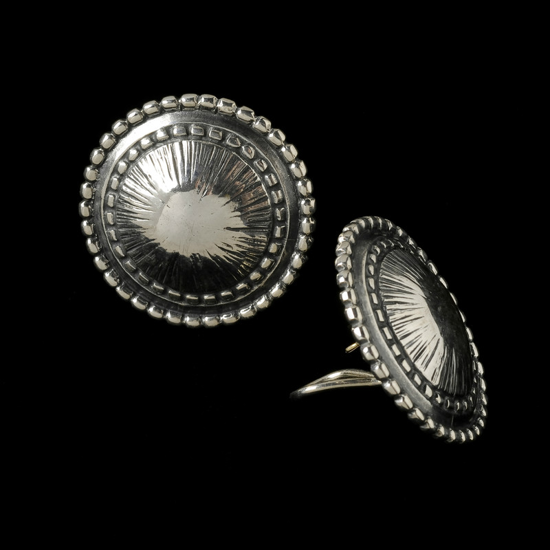Pod Earring in Sterling Silver with Gold posts by Bowman Originals, USA
