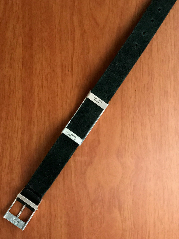 Underside of Slide Bracelet, Buckle and Leather by Bowman Originals