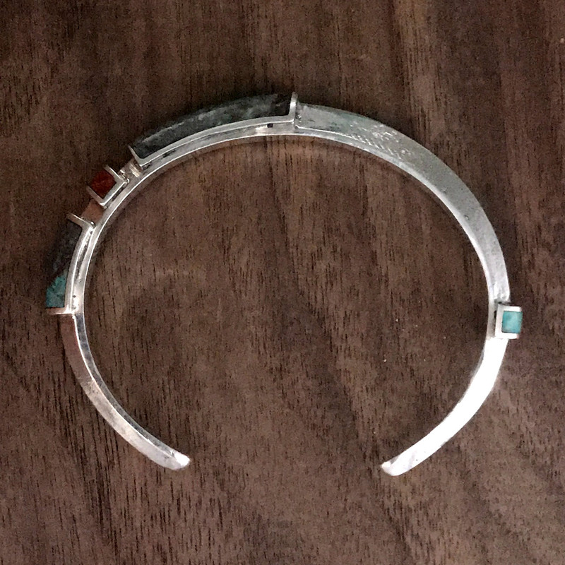 Cuff Bracelet, Organic Silver, Chrysocolla, Turquoise