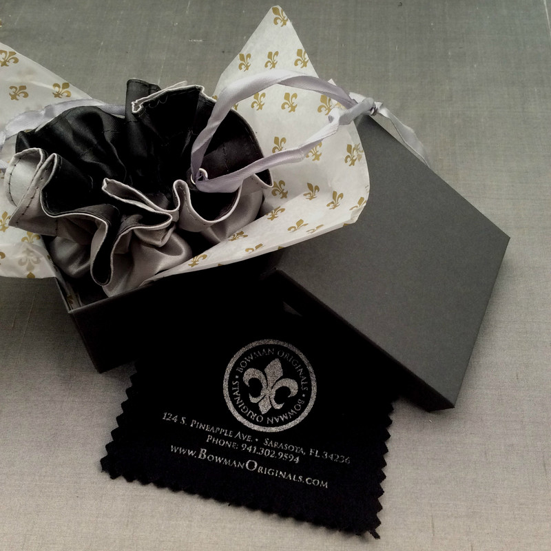 Jewelry Packaging for Bowman Originals jewelry, Downtown Sarasota, FL.