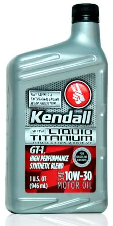 Kendall gt 1 high performance synthetic blend 10w 30 with for Kendall motor oil distributors