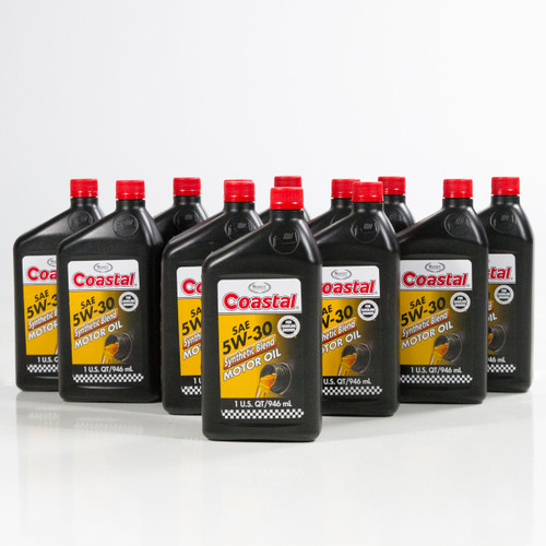 Coastal Synthetic Blend 5w30 Engine Oil 12 1 Qt Case