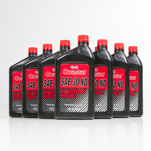 Coastal Non Detergent Motor Oil 30w 12 1 Quart Case