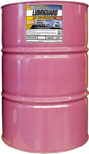 Lubriguard synthetic blend 15w40 ck 4 diesel engine oil for 55 gallon drum motor oil
