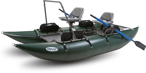 Outcast fish cat 13 2 person pontoon boat for Cat fishing 2
