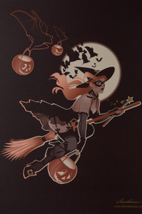 TRICK OR TREAT LITHO PRINT