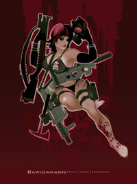 ZOMBIE HUNTER PINUP GIRL CHLOE SUICIDE