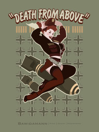 DEATH FROM ABOVE PINUP GIRL