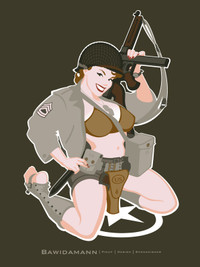 WW2 US ARMY PINUP GIRL