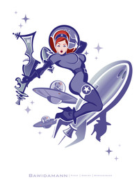 SPACE GIRL 2 PINUP