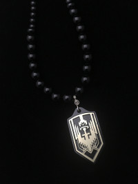 ARCHANGEL MICHAEL BLACK ONYX (BLACKED OUT) BRASS PROTECTION NECKLACE