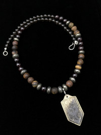 ARCHANGEL MICHAEL SMOKY QUARTZ/PYRITE/TIGERS EYE/ PROTECTION NECKLACE