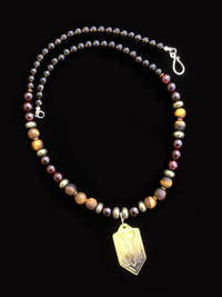NEW ARCHANGEL MICHAEL SMOKY QUARTZ/PYRITE/TIGERS EYE/ PROTECTION NECKLACE