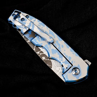 BB POGN FLIPPER SKY BLUE ETCHED/ TI