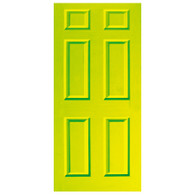 Door Vinyl Decal, Dementia Friendly - Lime Green