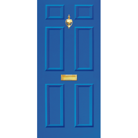 Image 1  sc 1 st  Dementia Signs & Door Vinyl Decal Dementia Friendly with Letterbox \u0026 Knocker - Blue ...