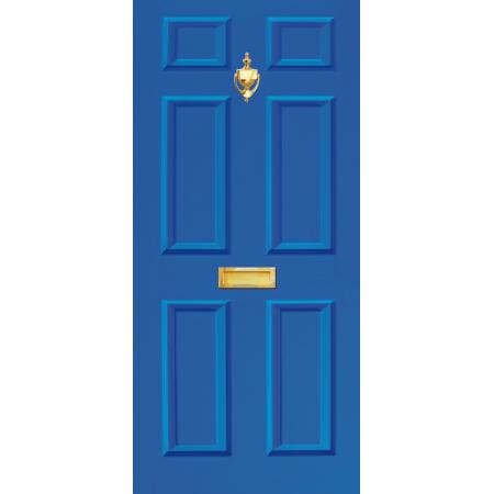 Image 1  sc 1 st  Dementia Signs & Door Vinyl Decal Dementia Friendly with Letterbox \u0026 Knocker - Blue ...