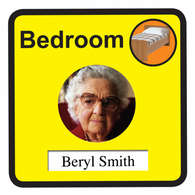 Personalised Bedroom Sign, Dementia Friendly - 30cm x 30cm