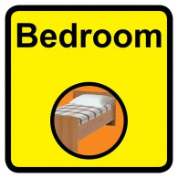 Bedroom Sign, Dementia Friendly - 30cm x 30cm