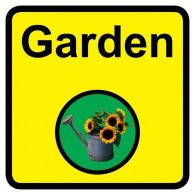 Garden Sign, Dementia Friendly - 30cm x 30cm