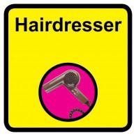 Hairdresser Sign, Dementia Friendly - 30cm x 30cm