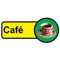 Cafe Sign, Dementia Friendly - 48cm x 21cm