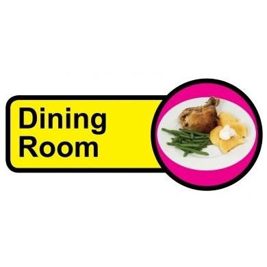 Dining Room Sign Dementia Friendly 48cm X 21cm