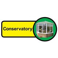 Conservatory Sign, Dementia Friendly - 48cm x 21cm