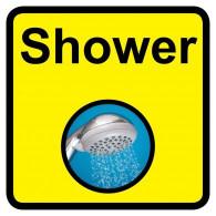Shower Sign, Dementia Friendly - 30cm x 30cm