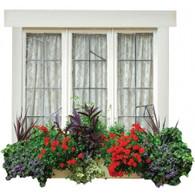 Window Frame Vinyl Design 'A' - Triple Window 1000 x 1000mm