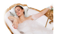 Luxury Terry Towelling Inflatable Bath Pillow