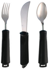 Bendable Dementia Cutlery Set - 3 Piece Set Inc. Wrist Straps